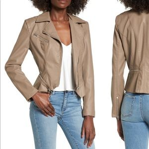 NWT Blank NYC Faux Leather Jacket Size L